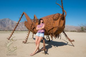 "Cricket & CrtrGrl See Eye to Eye! Visiting Anza Borrego Springs, CA. Photo by Scott McGee at <a href=""http://www.underpressurephoto.com/"">Under Pressure Photography</a>"