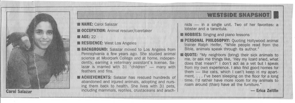 1993 Outlook Newspaper Clipping