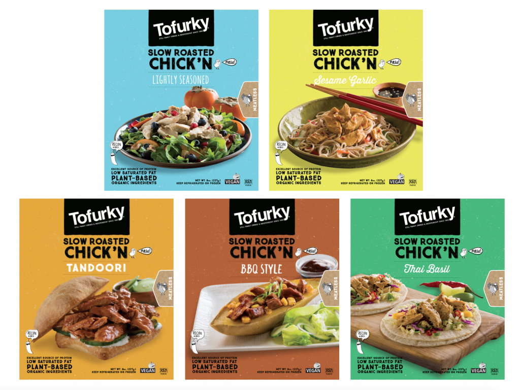 Cruelty free Tofurky Chick'n Selection